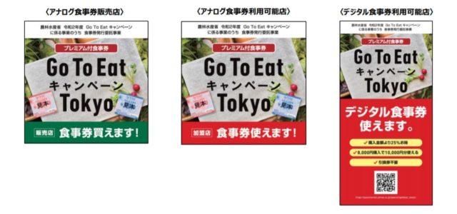 GoToイート東京都の食事券申し込み・購入方法は?使える店も調査!