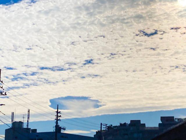 穴あき雲は地震の予兆と不安の声!発生の原因には2つの説が有力?